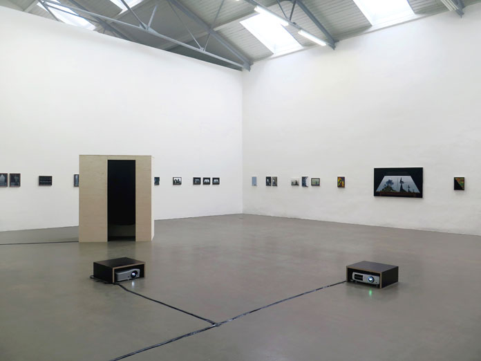 Installation view with artworks by Katie Armstrong, Titus Schade.