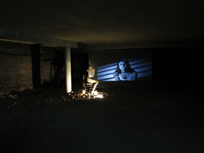 """MarieVic's installation view of the group exhibition """"Trailer"""" at gallery Eigen+Art."""