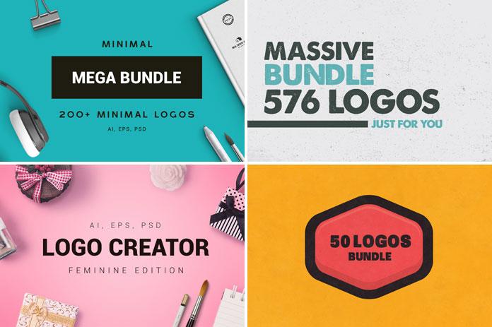 Minimal logos, massive logos, feminine logo creator, flat logos and badges.