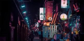 Night time at Asakusa.
