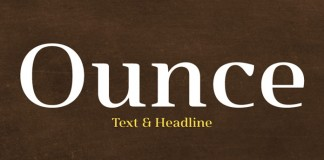 Ounce font family from Typomancer.