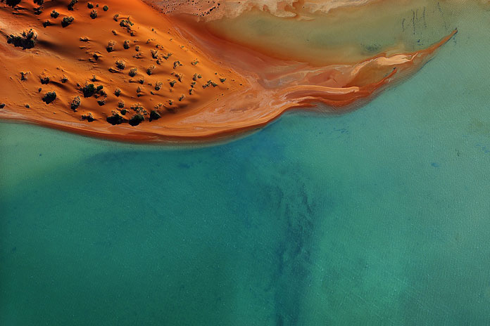 Sand, 2016 - Shark Bay aerial shot by Tommy Clarke.