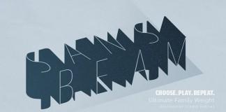 Sans Beam font family by Stawix Ruecha.