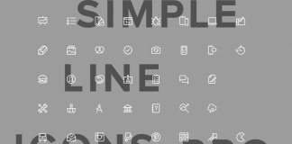 Simple Line Icons Pro from GraphicBurger.