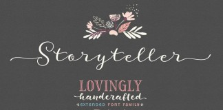 Storyteller font family from My Creative Land.
