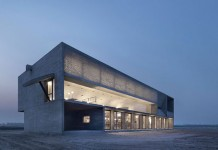 The Seashore Library - modern andminimalist concrete-clad architecture designed by Vector Architects.