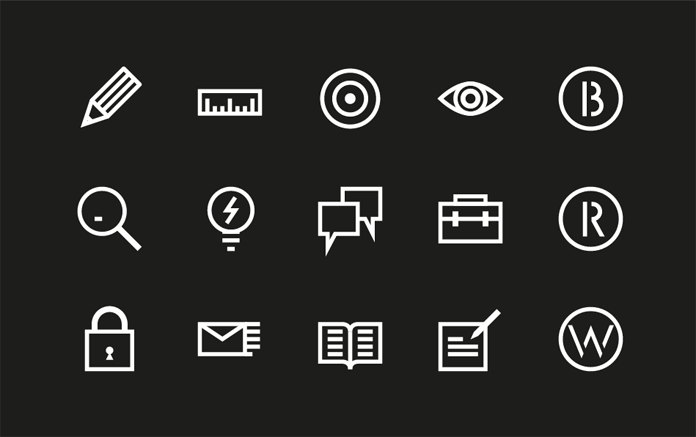 The set of icons will be used for diverse presentations.