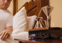 Barisieur coffee-brewing alarm clock.