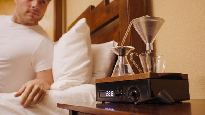 Barisieur coffee-brewing alarm clock.