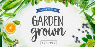 Garden Grown, hand-drawn font duo by Cindy Kinash of Cultivated Mind.