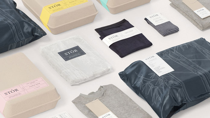 Graphic design by London based agency Socio Design for subscription clothing service, STÓR.