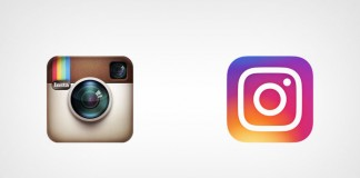 Instagram logos, old vs new.