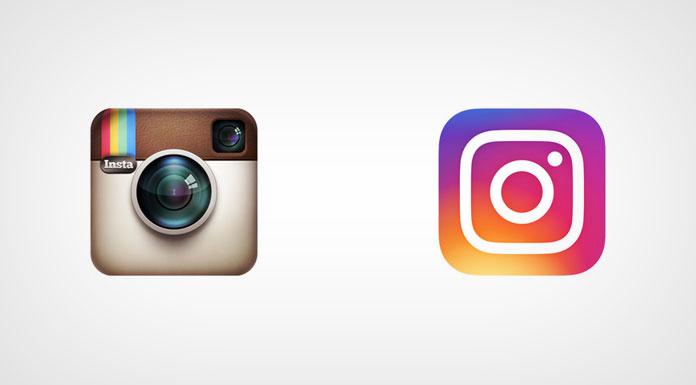 Instagram logos, old vs new.