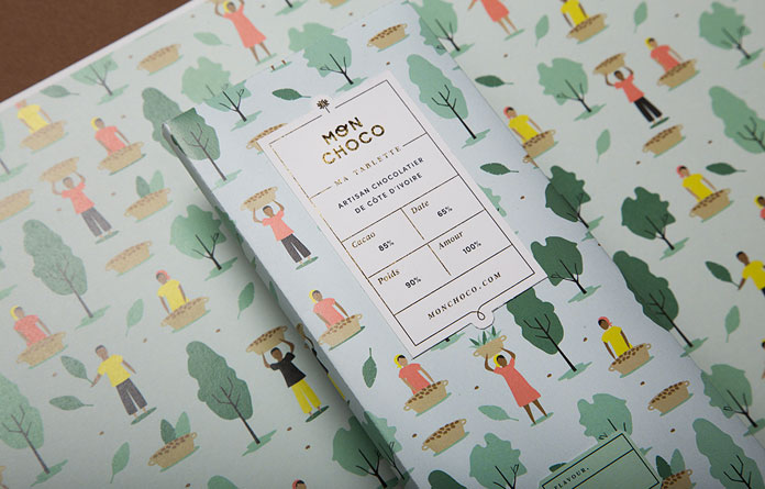 Mon Choco, chocolate brand and packaging design by studio Futura.
