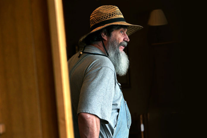 Mr. George Wurtzel is a blind artisan and teacher who's working at Enchanted Hills Camp in Napa.