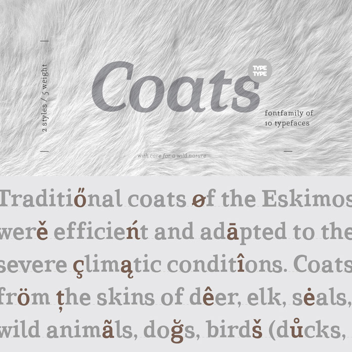 The TT Coats font family from foundry TypeType.