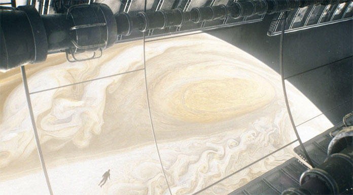 Expedition to the great red spot on Jupiter.