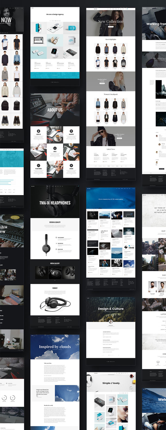 One WordPress theme that lets you create countless layouts.