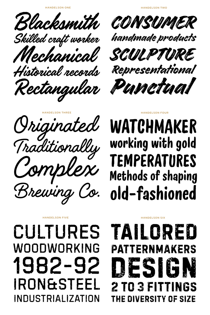 Samples of all 6 fonts.