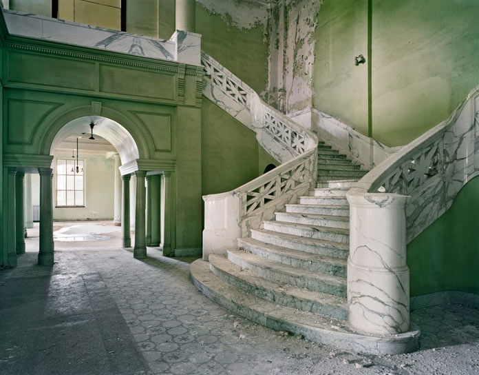 The entrance hall of an abandoned psychiatry.
