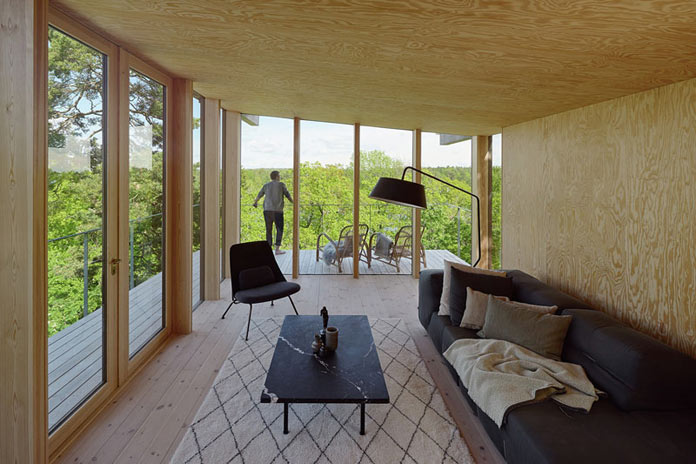 With windows from ceiling to floor, the main living area provides great views.