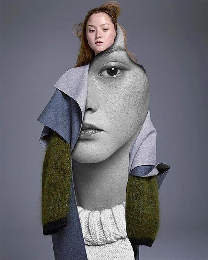 Fashion collage by Pablo Thecuadro.