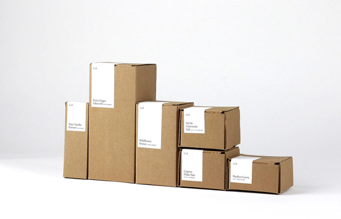 Cardboard shipping packages.