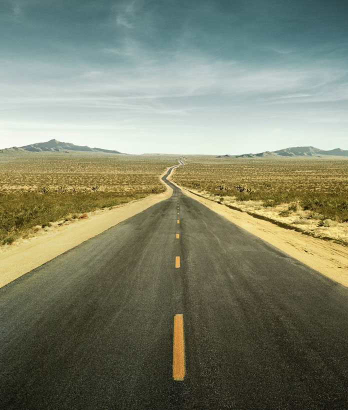 A lonely road shot by German photographer Christian Schmidt.