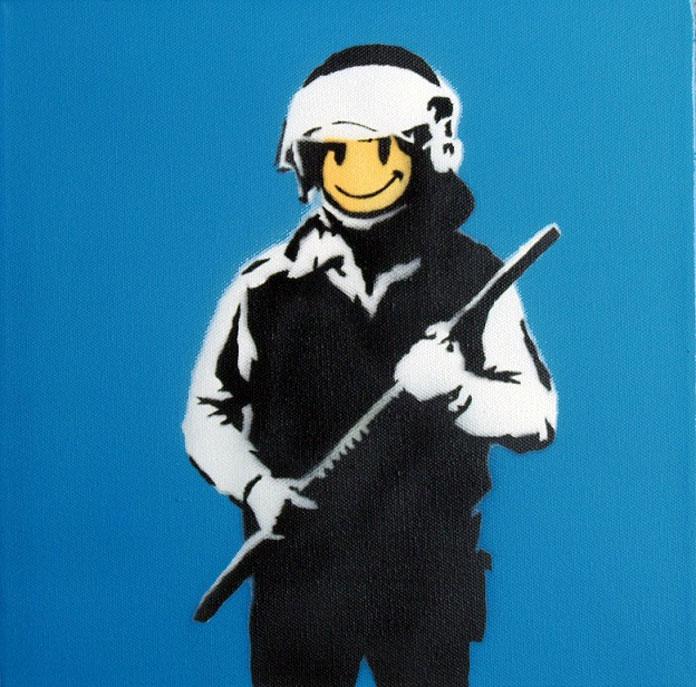 Banksy – Riot Cop.
