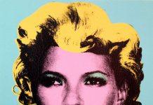 Banksy's portrait of Kate Moss is based on the style of Andy Warhol's iconic pop art portrait of Marilyn Monroe.