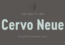 Cervo Neue, a narrow sans serif font family from Typoforge Studio.