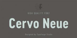 Cervo Neue, a narrow sans serif font family from Typoforge Studio.