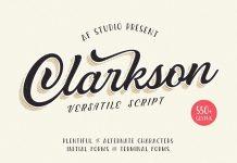 Clarkson Script font from AF Studio.