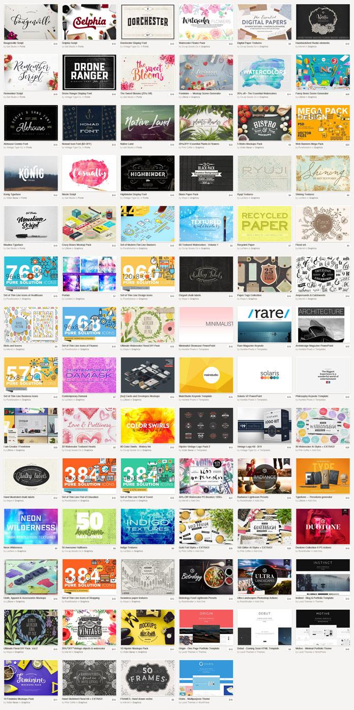 Fonts, Graphics, Themes – May Bundle 2016