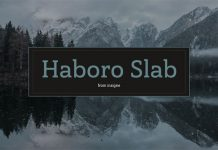 Haboro Slab, a family from foundry Insigne.