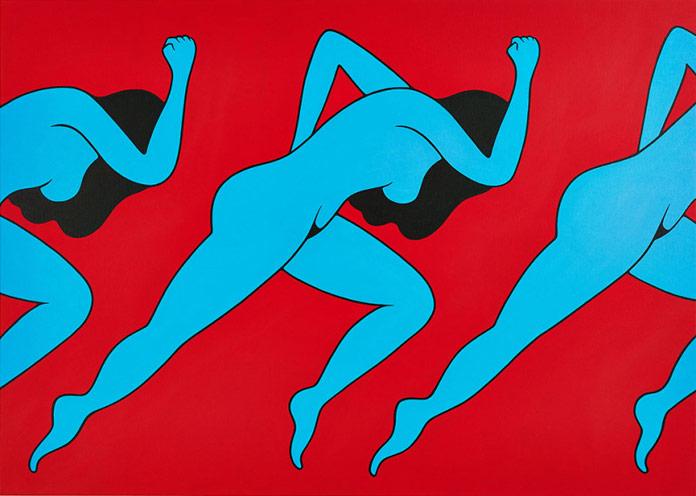 Lust, 2014 – acrylic on canvas, 100 x 140 cm (39.37 x 55.12 in).