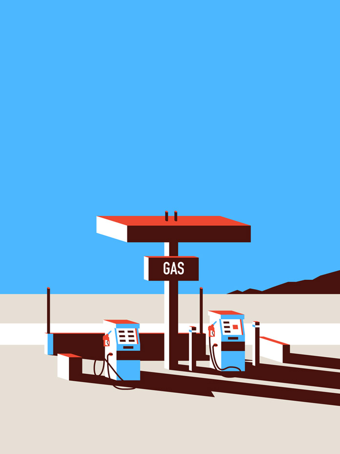 Pit Stop – Desert inspired illustration.