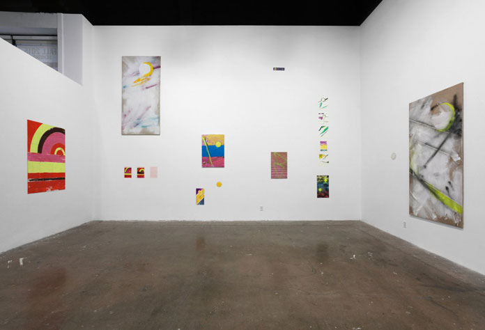 'Stray Edge' – exhibition view at Guggenheim Gallery in Orange County, CA in 2015.