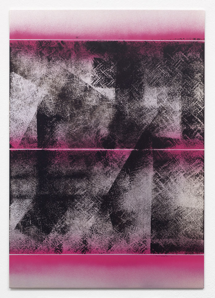 'To the... III', 2012 – Mixed media artwork in the size of 50 x 35 cm. Created with lacquer on aluminium.