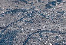 Paris city map poster by Luis Dilger.