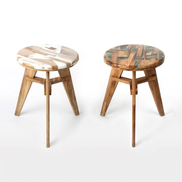 Eco-friendly furniture design: Zero per stool by Hattern.