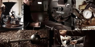 A coffee roastery in Lugano, which is managed by the second generation of the family.