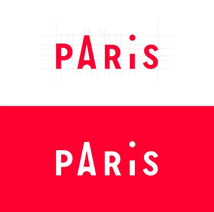 Paris logotype for the tourist information center.