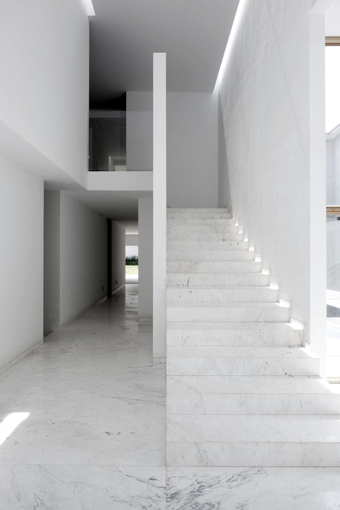 The marble staircase.