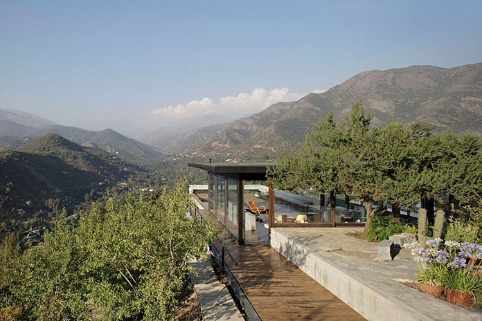 Situated in the mountains of Las Condes, Santiago, Chile.