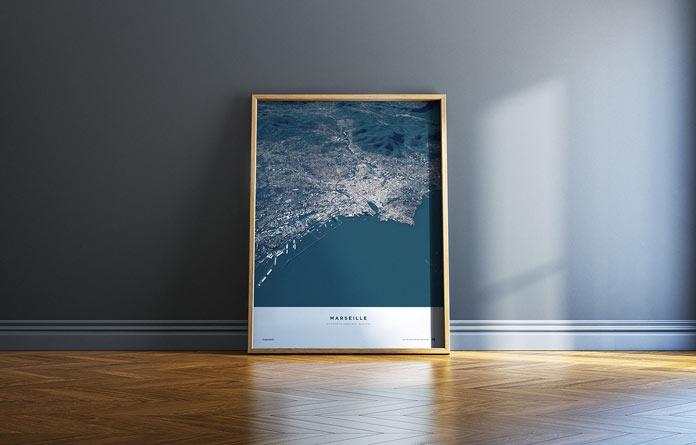 Marseille – framed print.