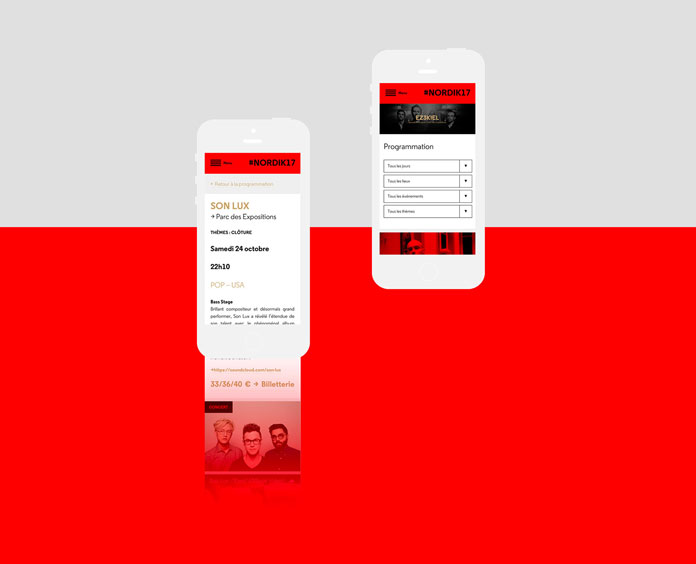 Mobile version of the website.