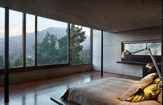 Bedroom with great views.