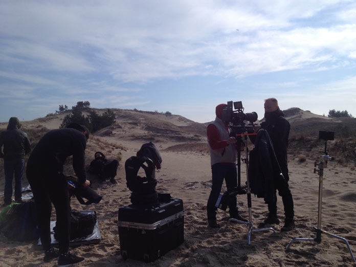 Music video shoot in the dunes of Poland.