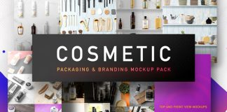 Cosmetic packaging mockups.